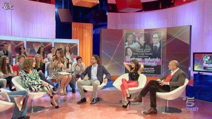 Silvia Toffanin et Melita Toniolo dans Verissimo. Diffusé à la télévision le 20/11/10.