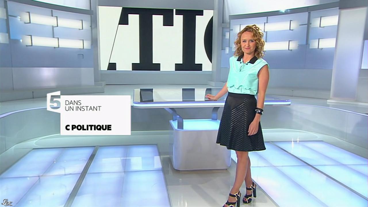 Caroline Roux dans C Politique. Diffusé à la télévision le 27/04/14.