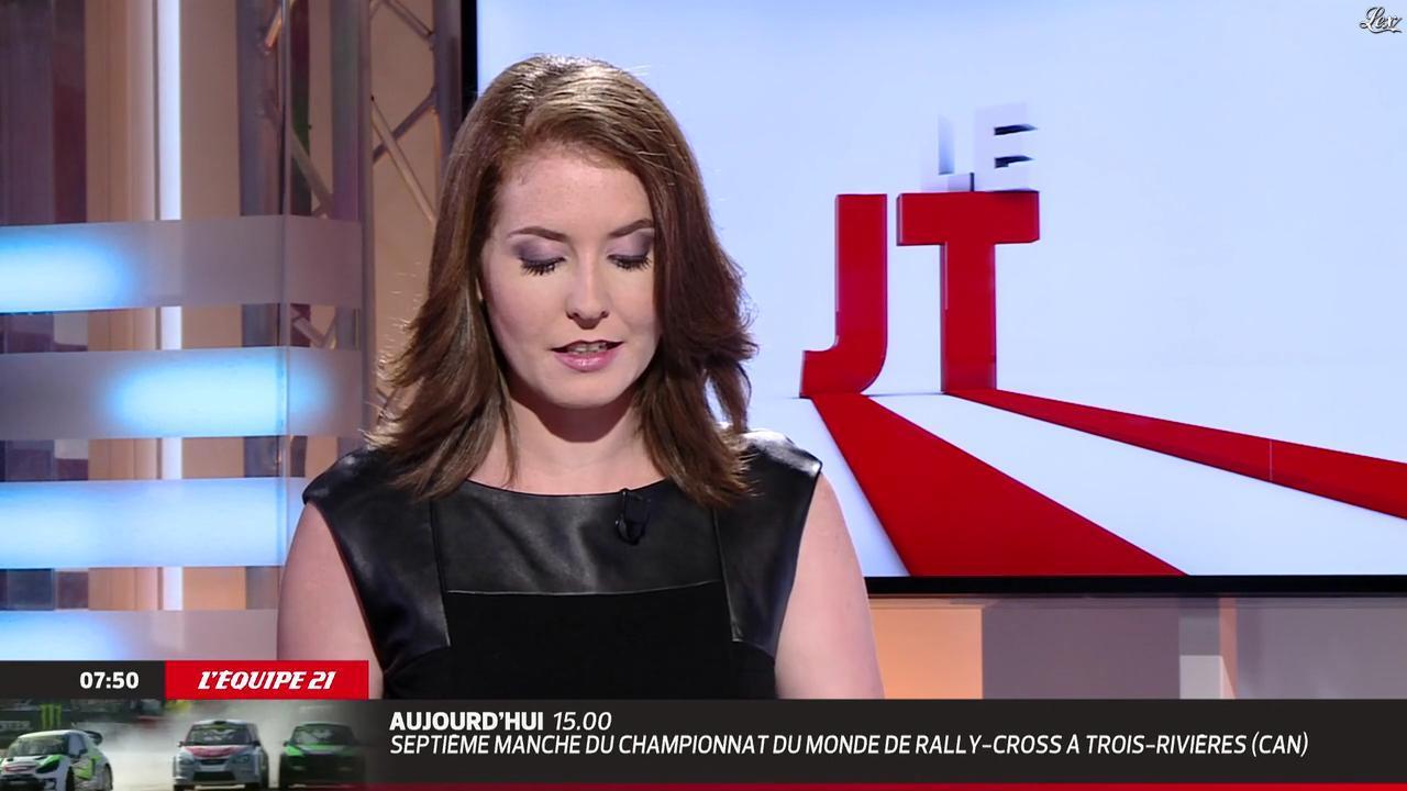 Elodie Poyade dans le JT. Diffusé à la télévision le 09/08/14.