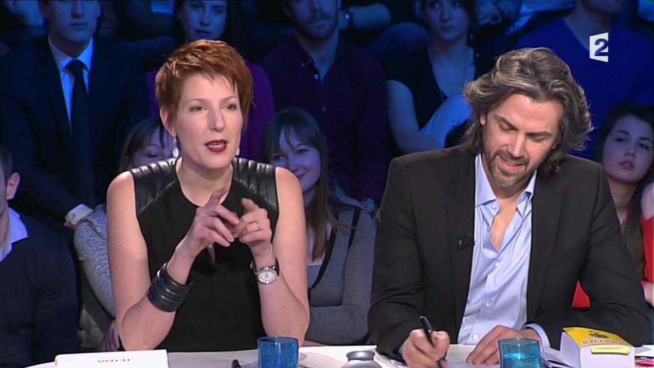 Natacha Polony dans On n'est pas Couché. Diffusé à la télévision le 08/03/14.