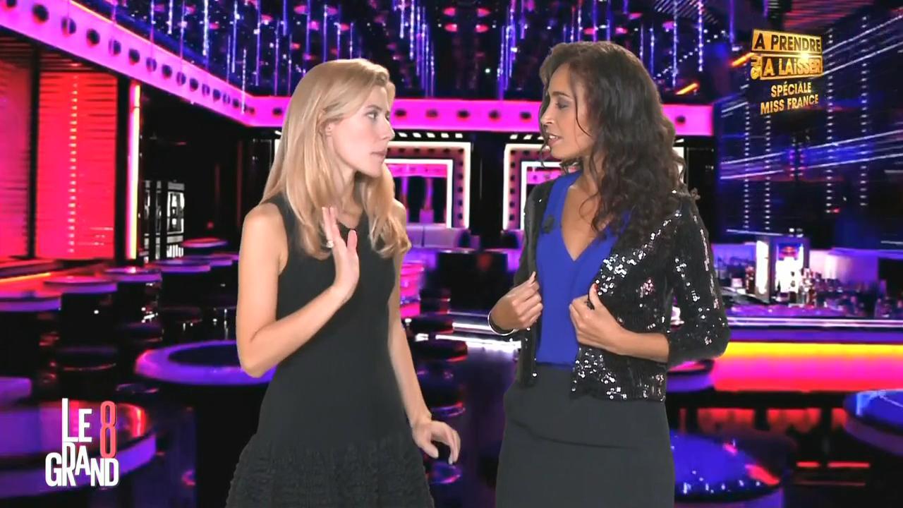 Aïda Touihri et Elisabeth Bost dans le Grand 8. Diffusé à la télévision le 04/09/15.