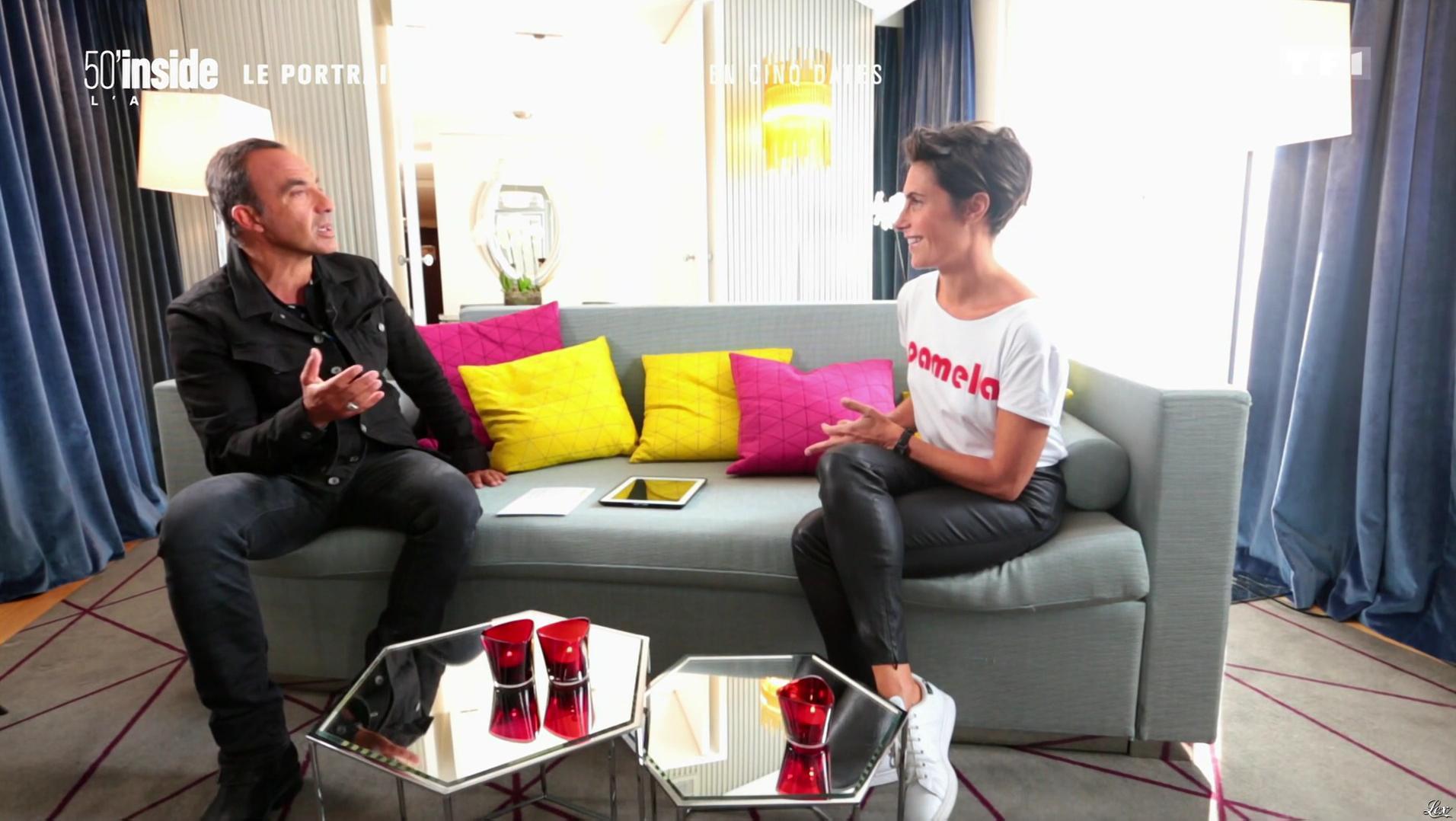 Alessandra Sublet dans 50 Minutes Inside. Diffusé à la télévision le 24/09/16.