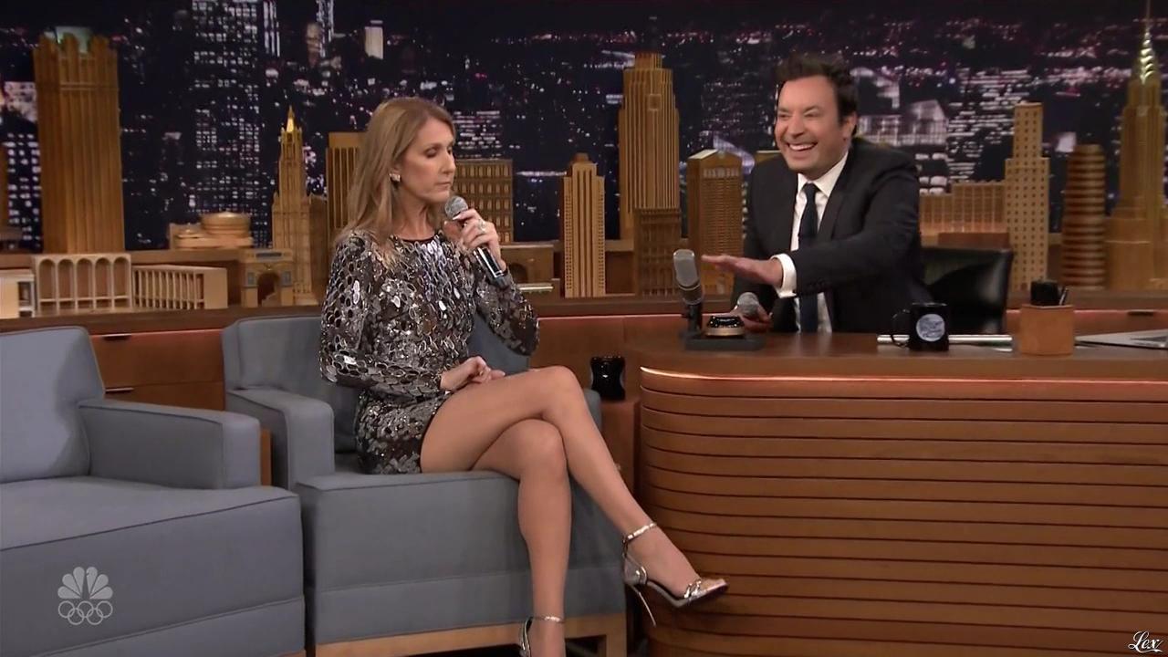 Céline Dion dans Jimmy Fallon. Diffusé à la télévision le 21/07/16.