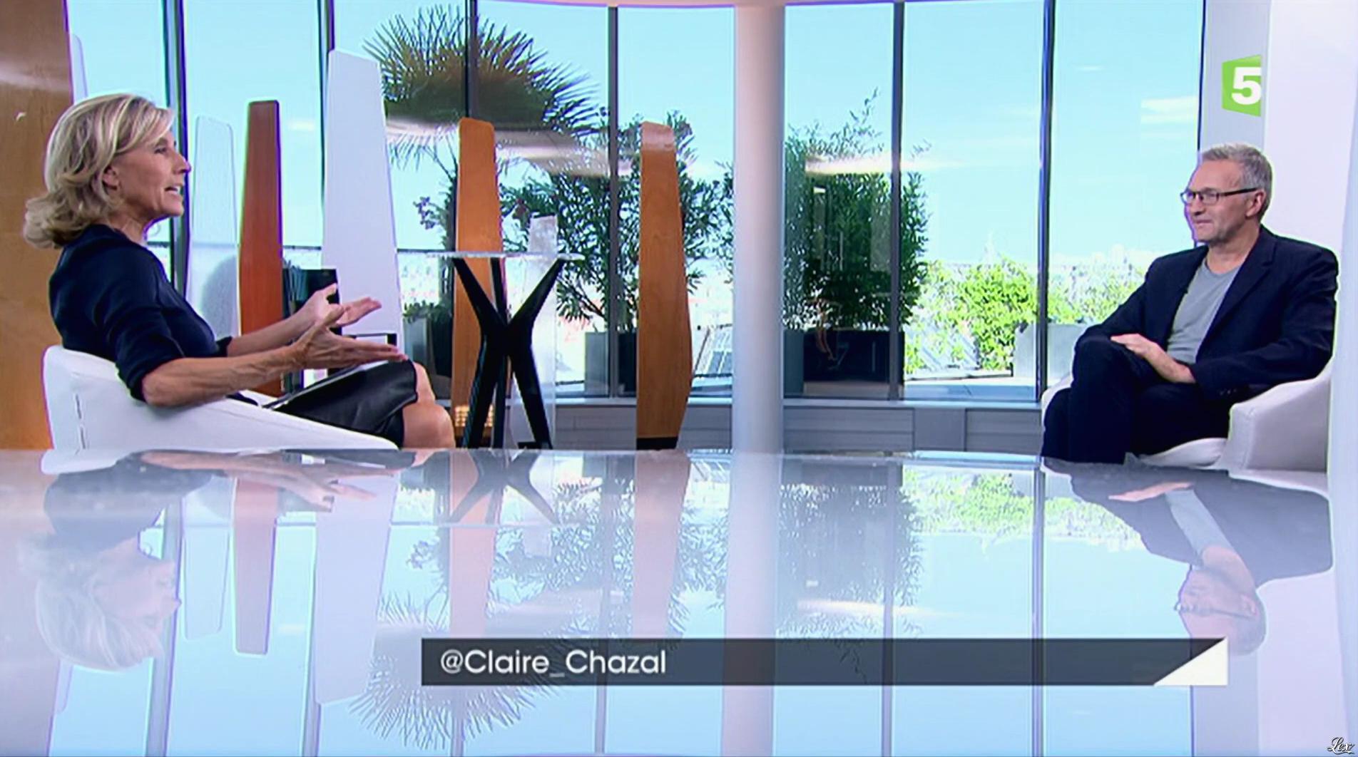 Claire Chazal dans Entrée Libre. Diffusé à la télévision le 19/09/16.