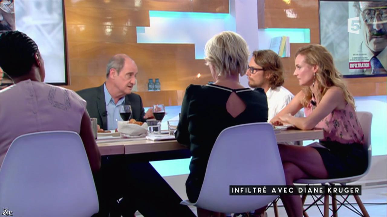 Diane Kruger dans C à Vous. Diffusé à la télévision le 02/09/16.
