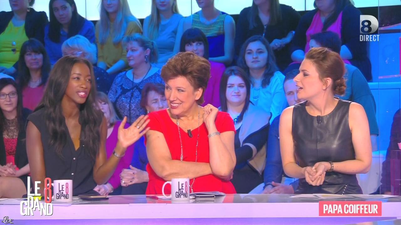 Hapsatou Sy et Magali Bertin dans le Grand 8. Diffusé à la télévision le 08/03/16.