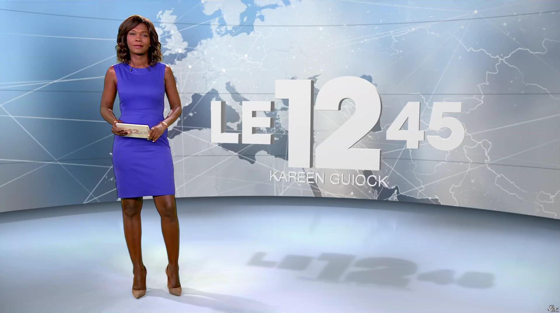 Kareen Guiock dans le 12-45. Diffusé à la télévision le 24/08/16.