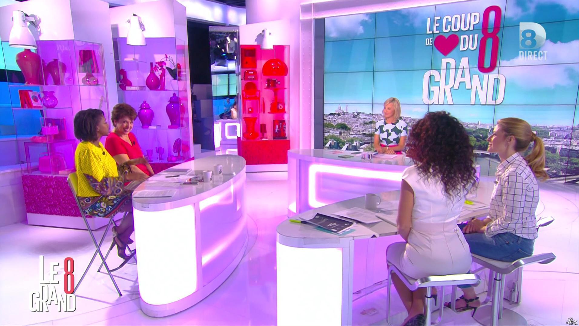 Laurence Ferrari et Aïda Touihri dans le Grand 8. Diffusé à la télévision le 29/06/16.