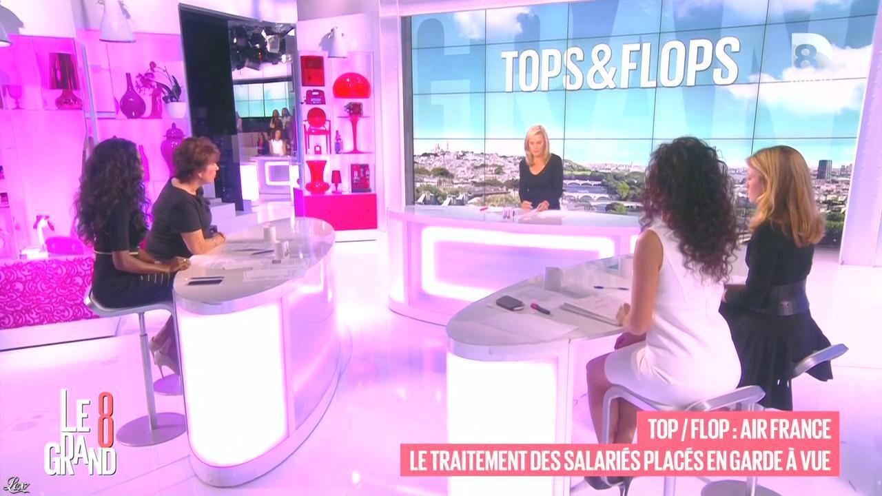 Laurence Ferrari, Aïda Touihri et Magali Bertin dans le Grand 8. Diffusé à la télévision le 13/10/15.