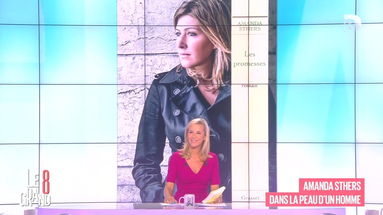 Laurence Ferrari et Amanda Sthers dans le Grand 8. Diffusé à la télévision le 04/09/15.