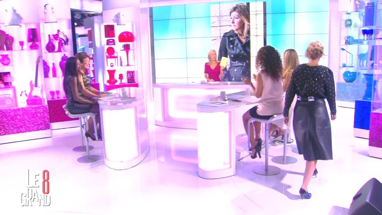 Laurence Ferrari, Hapsatou Sy, Aïda Touihri, Amanda Sthers et Elisabeth Bost dans le Grand 8. Diffusé à la télévision le 04/09/15.