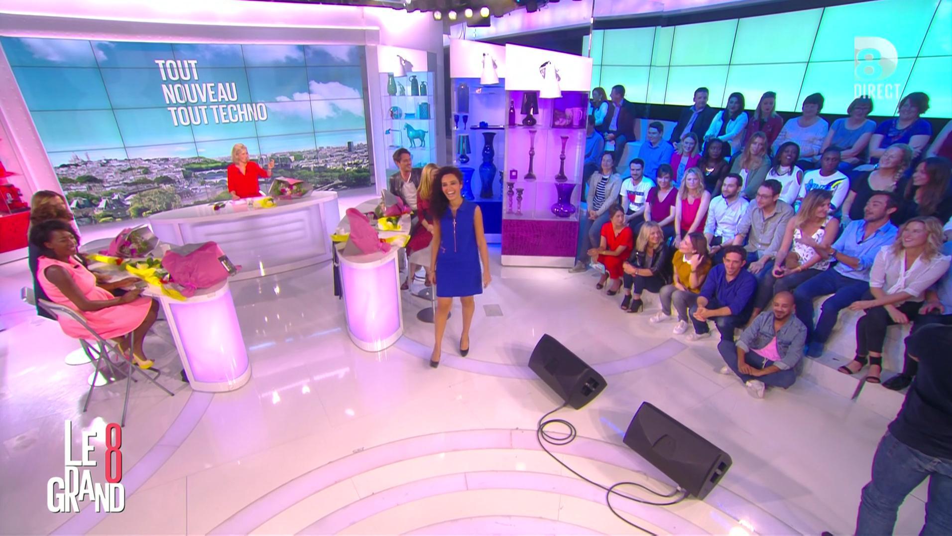 Laurence Ferrari, Hapsatou Sy, Aïda Touihri et Caroline Ithurbide dans le Grand 8. Diffusé à la télévision le 30/06/16.