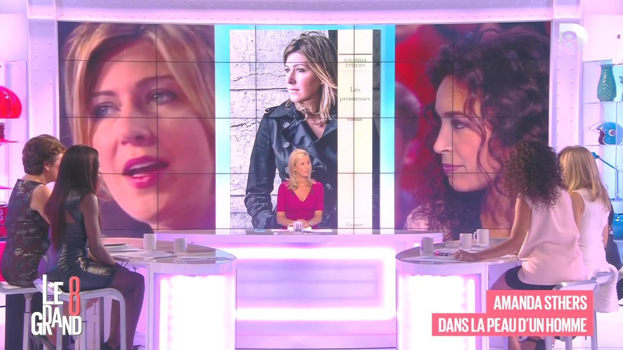 Laurence Ferrari, Hapsatou Sy, Aïda Touihri et Elisabeth Bost dans le Grand 8. Diffusé à la télévision le 04/09/15.