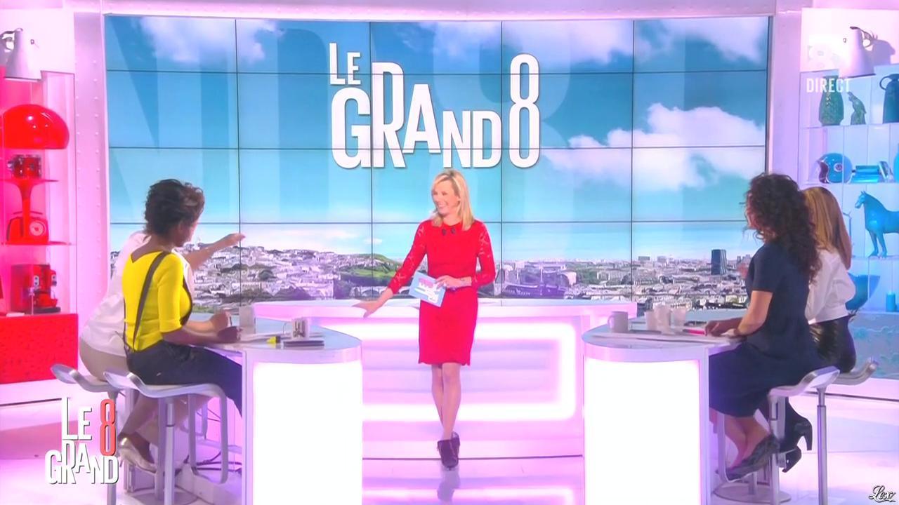 Laurence Ferrari, Hapsatou Sy, Aïda Touihri et Elisabeth Bost dans le Grand 8. Diffusé à la télévision le 16/02/16.