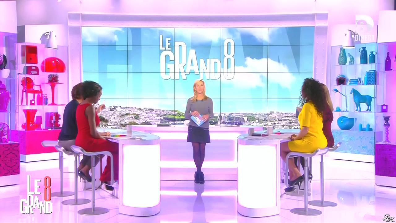 Laurence Ferrari, Hapsatou Sy et Aïda Touihri dans le Grand 8. Diffusé à la télévision le 21/10/15.