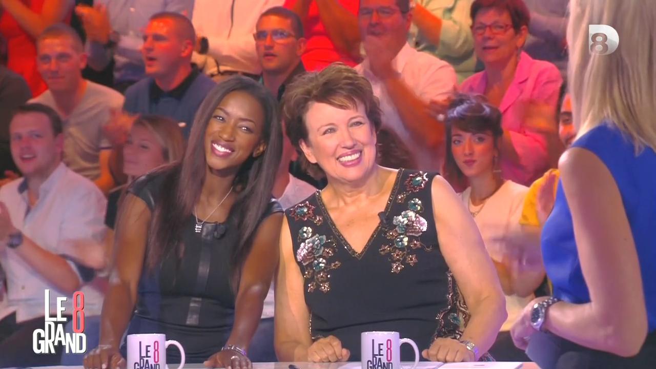 Laurence Ferrari et Hapsatou Sy dans le Grand 8. Diffusé à la télévision le 04/09/15.