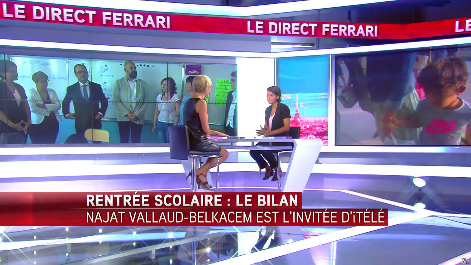 Laurence Ferrari dans le Direct Ferrari. Diffusé à la télévision le 01/09/16.