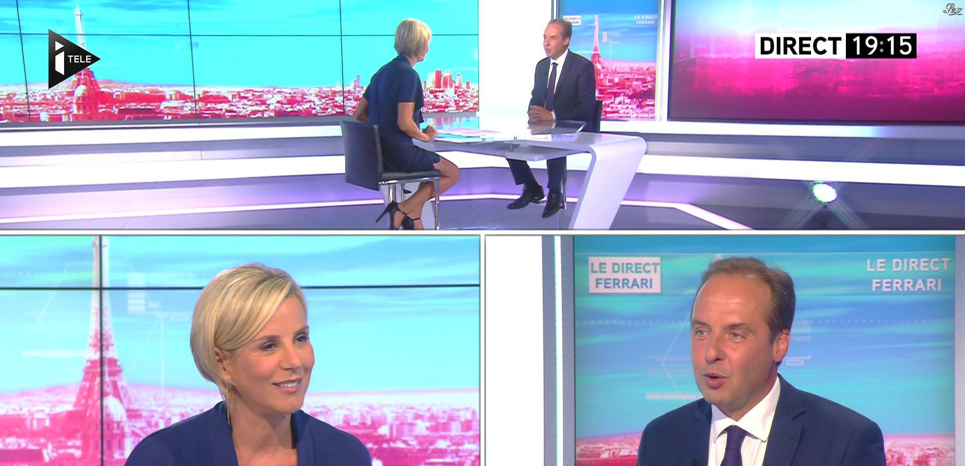 Laurence Ferrari dans le Direct Ferrari. Diffusé à la télévision le 31/08/16.