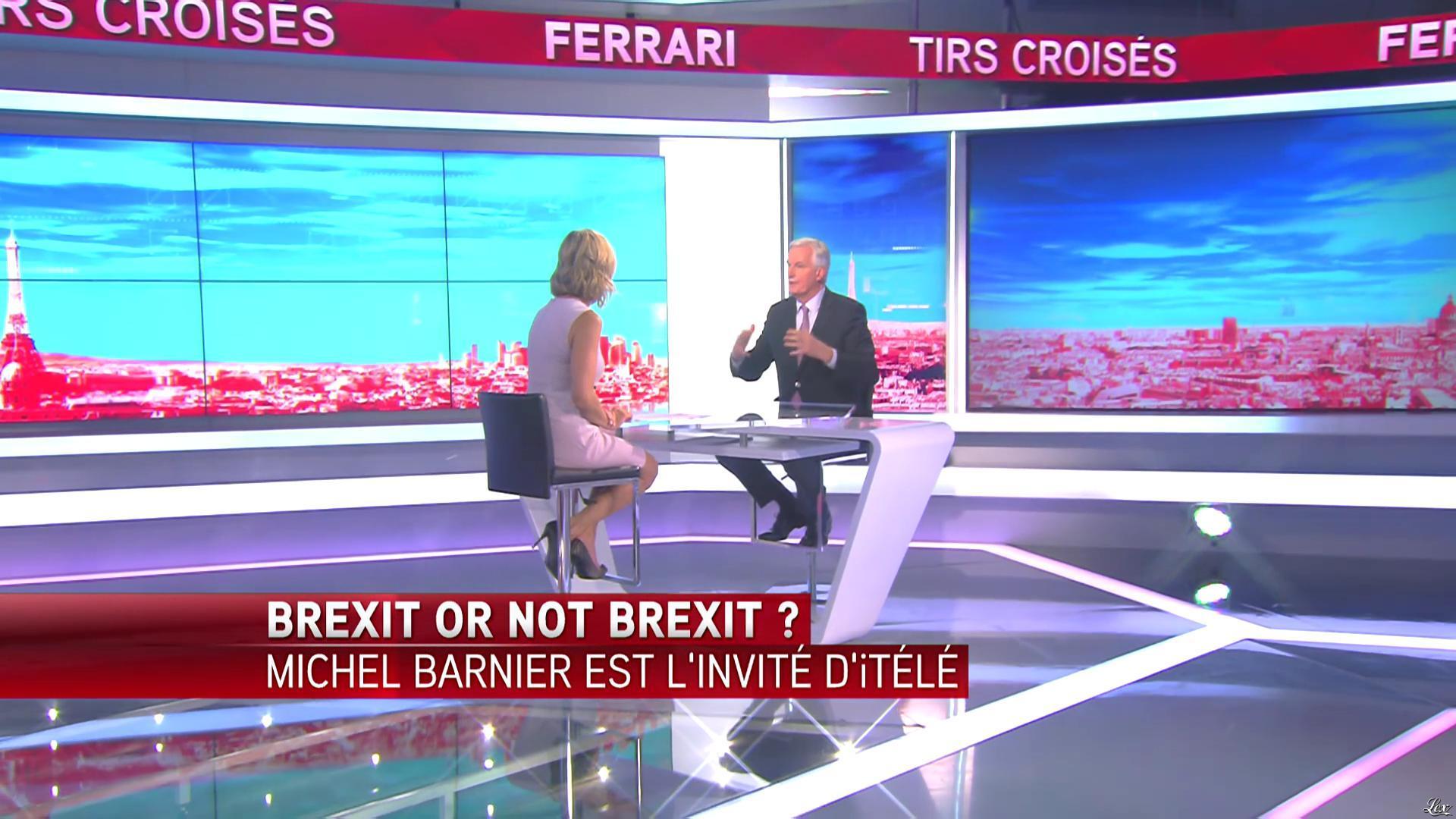 Laurence Ferrari dans Tirs Croisés. Diffusé à la télévision le 23/06/16.