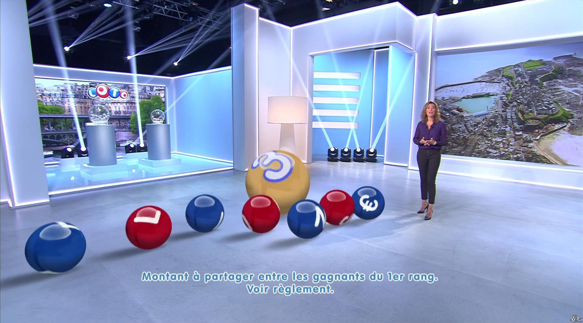 Sandrine Quétier lors du Tirage du Loto. Diffusé à la télévision le 31/08/16.