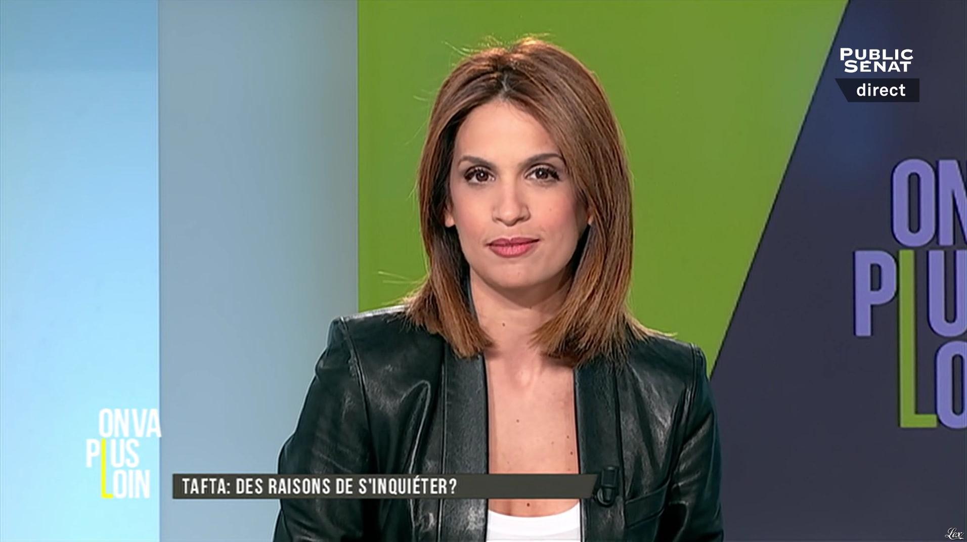Sonia Mabrouk dans On Va Plus Loin. Diffusé à la télévision le 25/04/16.