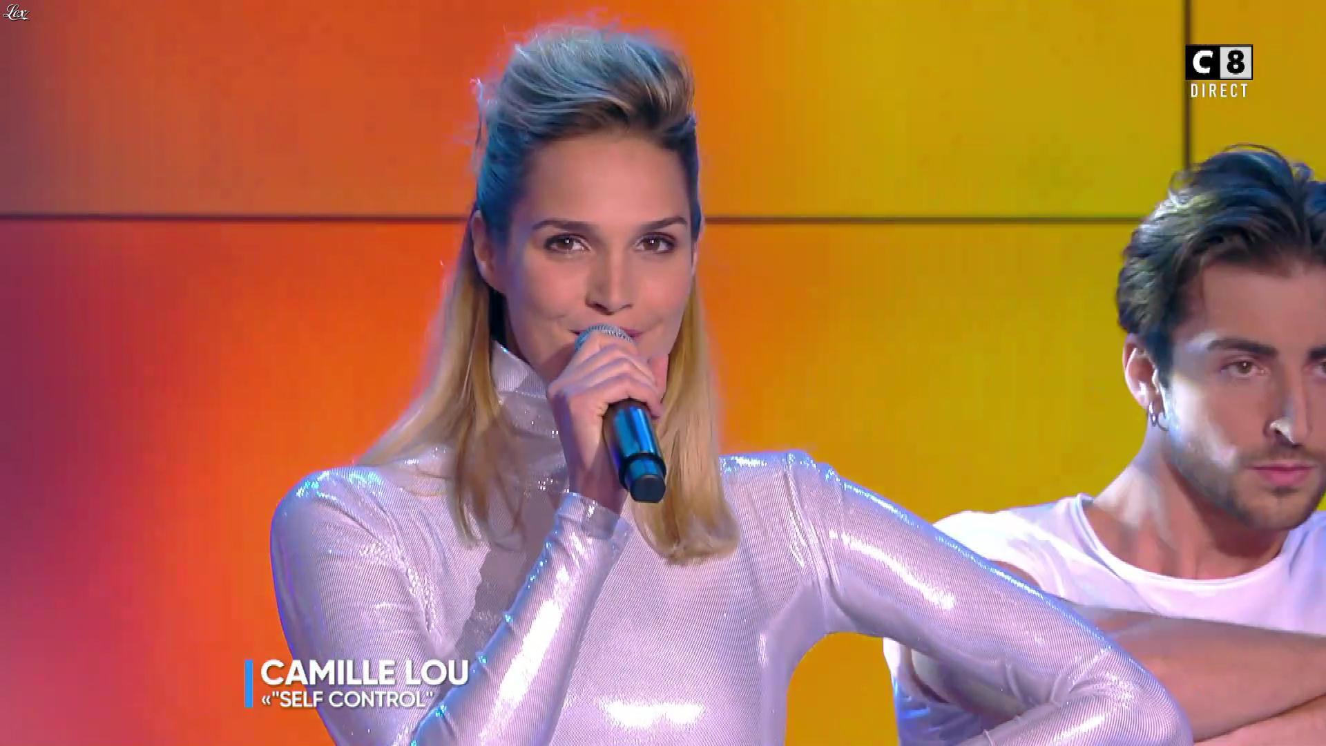 Camille Lou dans Touche pas à mon Poste. Diffusé à la télévision le 25/09/17.