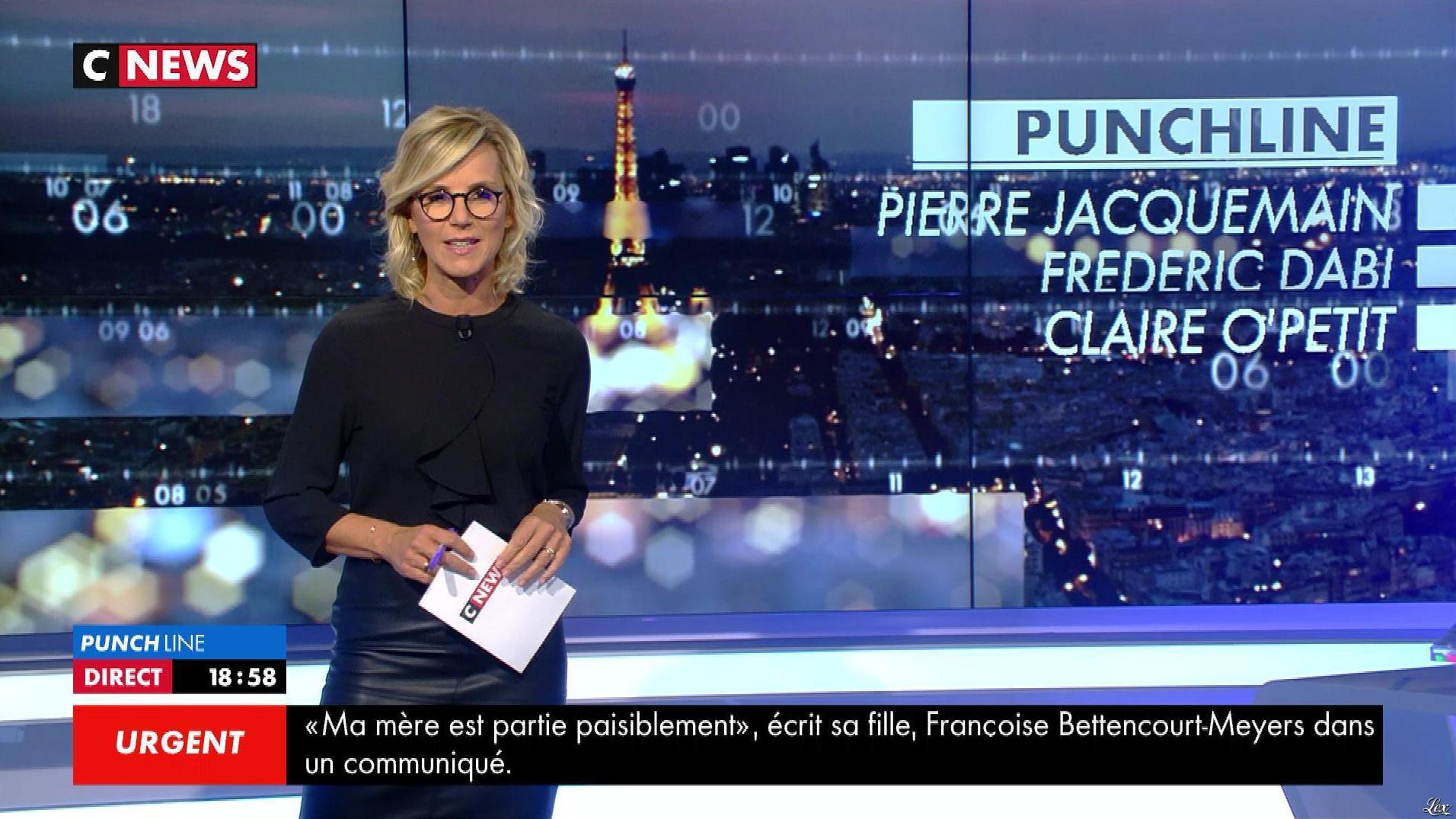 Laurence Ferrari dans Punchline. Diffusé à la télévision le 21/09/17.