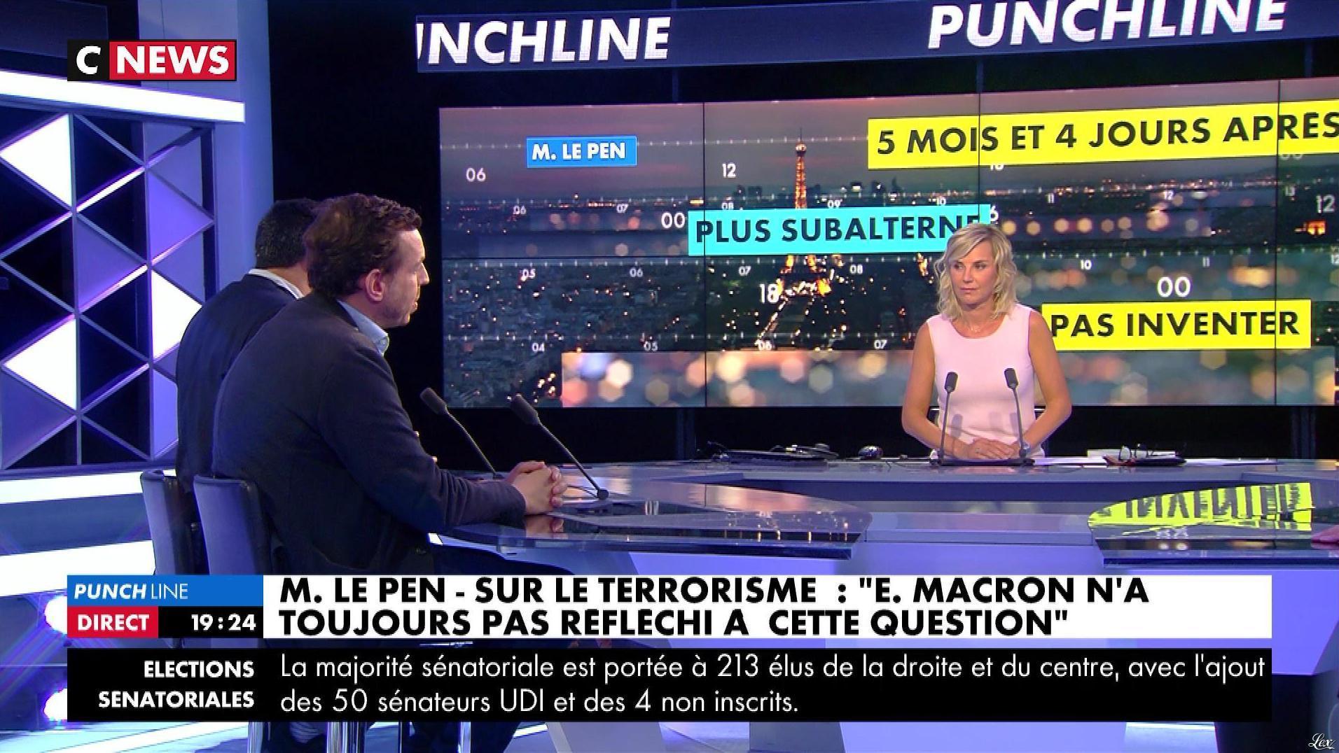 Laurence Ferrari dans Punchline. Diffusé à la télévision le 25/09/17.