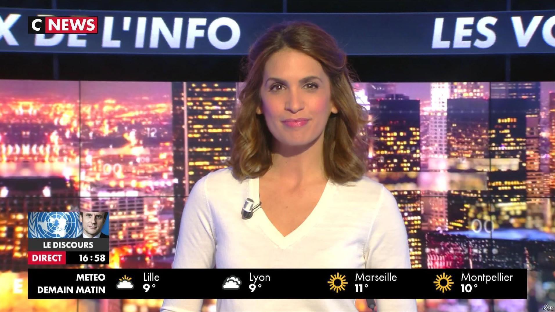 Sonia Mabrouk dans les Voix de l'Info. Diffusé à la télévision le 19/09/17.