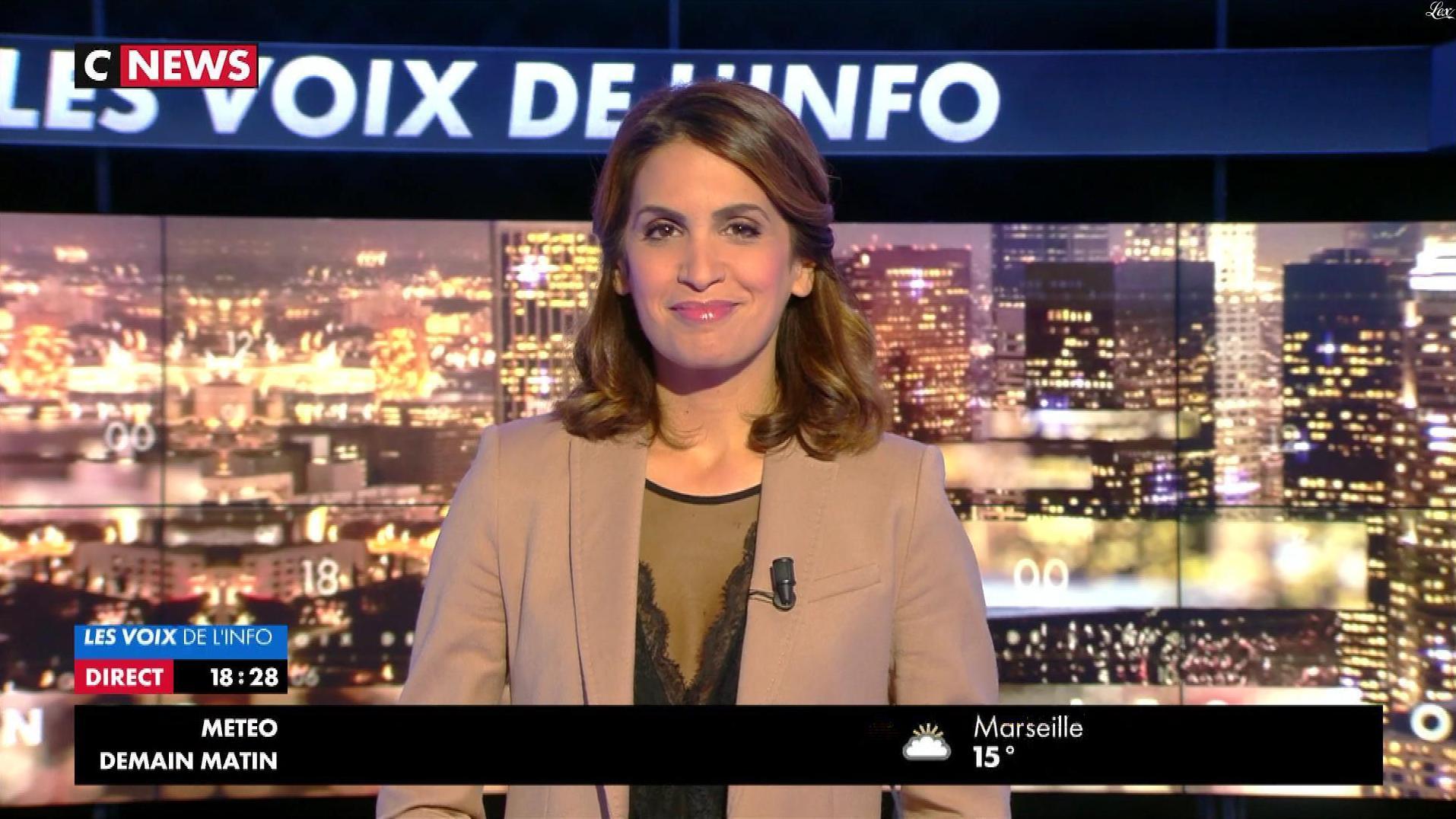 Sonia Mabrouk dans les Voix de l'Info. Diffusé à la télévision le 26/09/17.