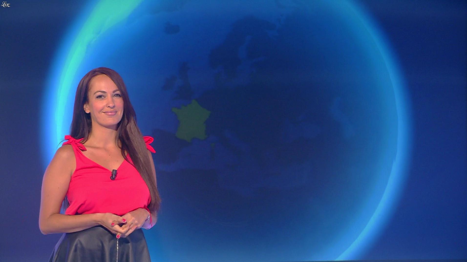 Alexandra Blanc à la Météo. Diffusé à la télévision le 10/07/18.