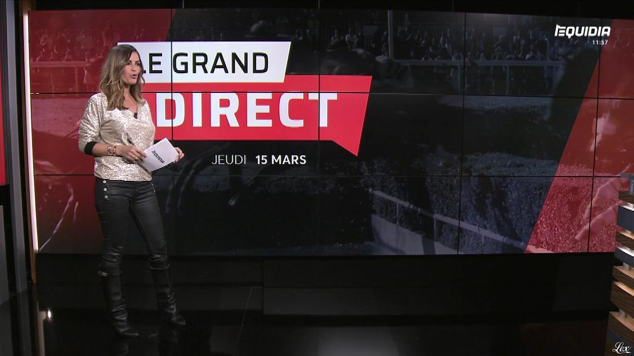 Amélie Bitoun dans le Grand Direct. Diffusé à la télévision le 15/03/18.