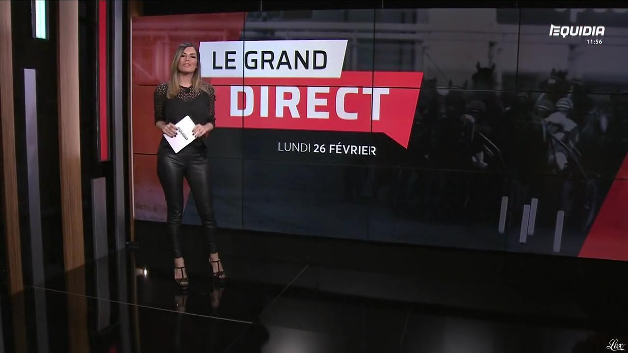 Amélie Bitoun dans le Grand Direct. Diffusé à la télévision le 26/02/18.