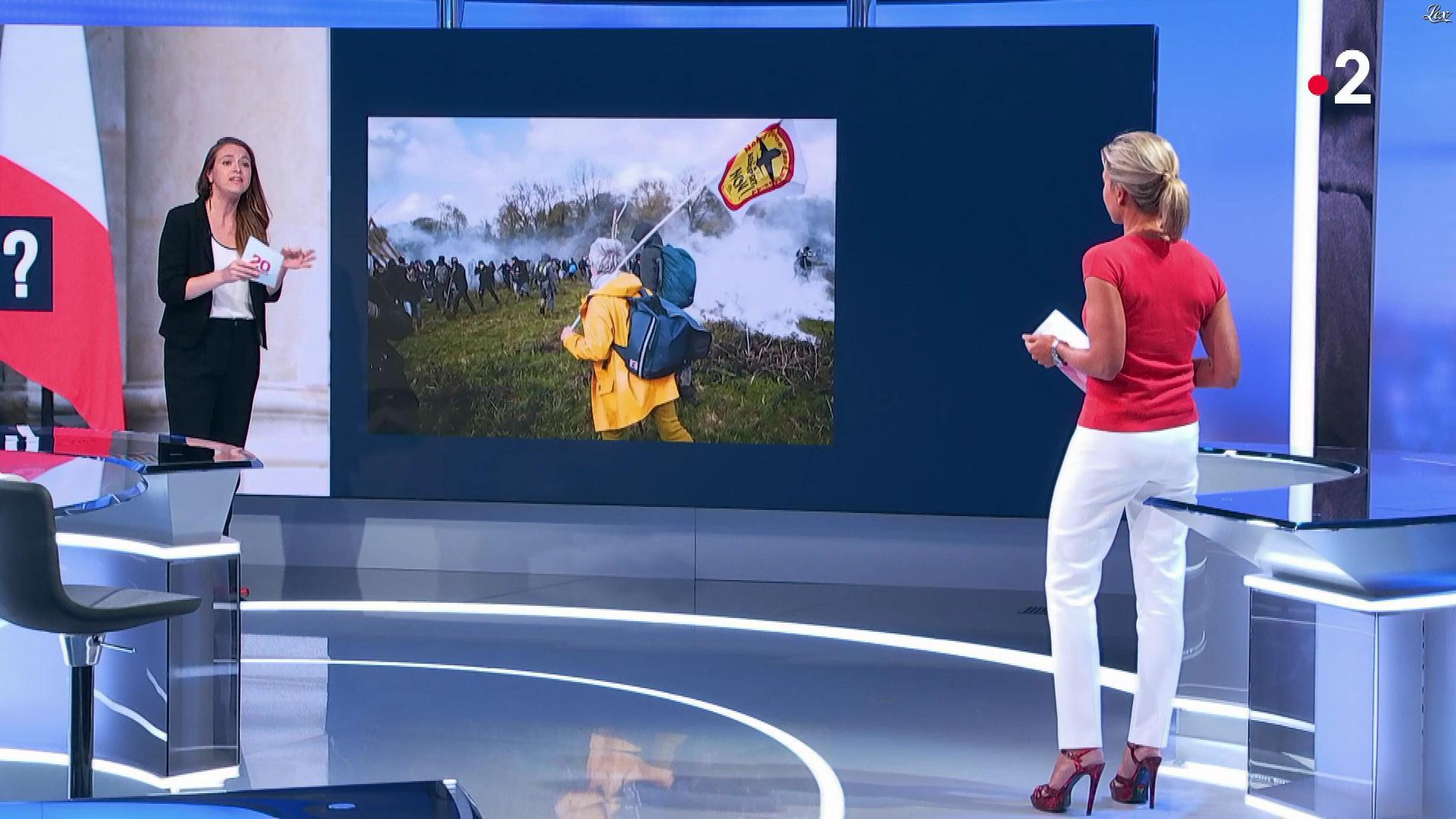 Anne-Sophie Lapix dans le 20h. Diffusé à la télévision le 28/08/18.