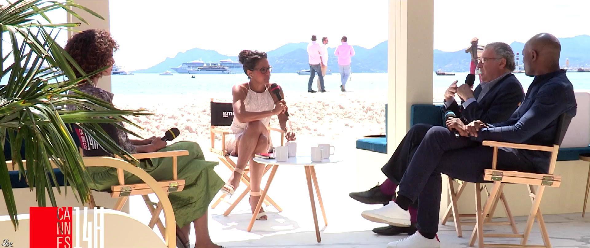 Audrey Pulvar dans Cannes 14h. Diffusé à la télévision le 15/05/18.