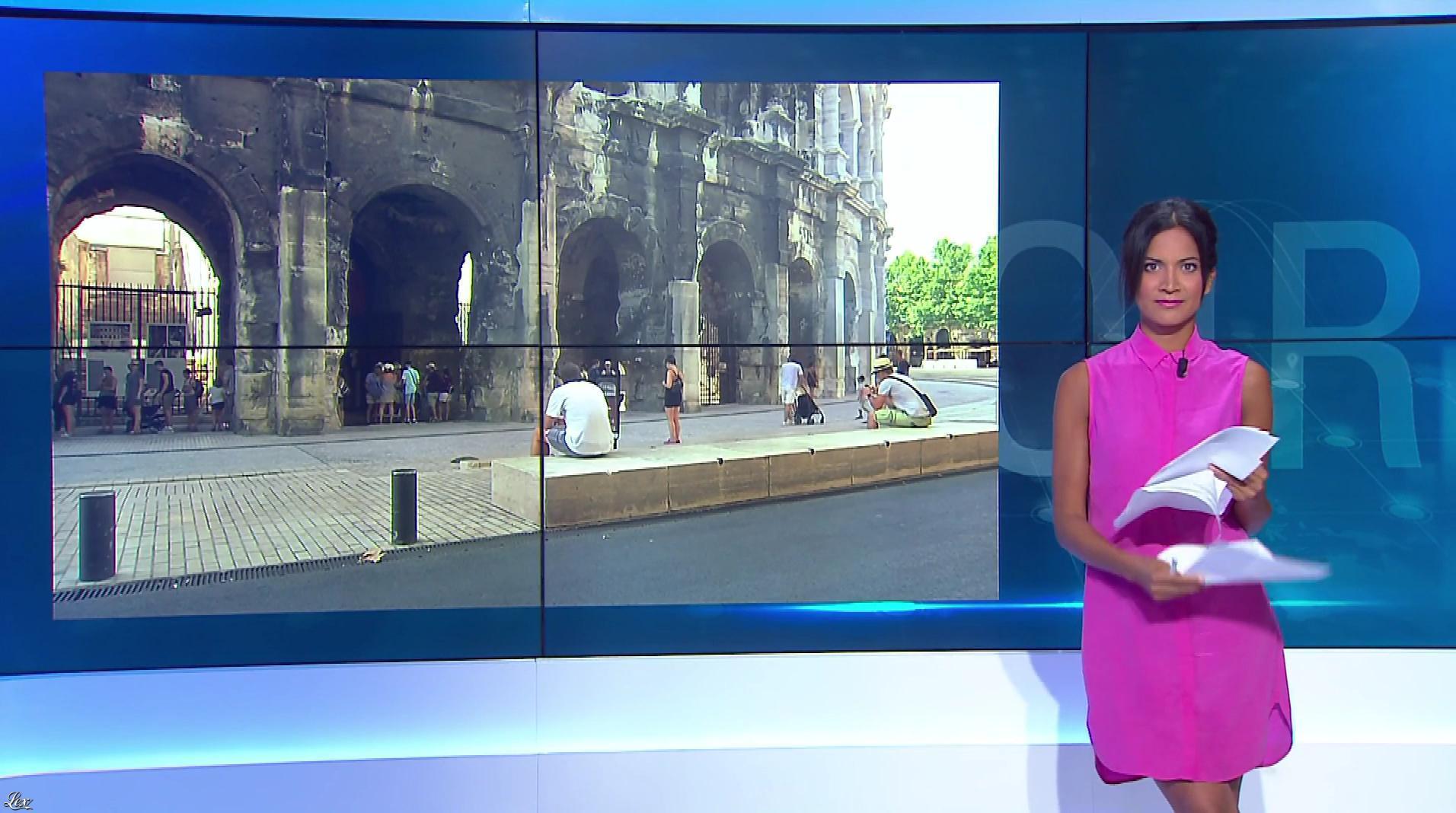 Aurélie Casse dans le Journal du Soir. Diffusé à la télévision le 01/08/18.