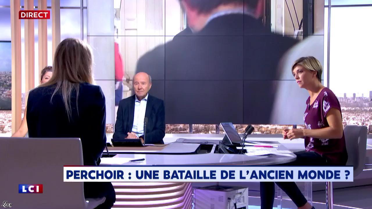Benedicte Le Chatelier dans le Brunch de l'Info. Diffusé à la télévision le 09/09/18.