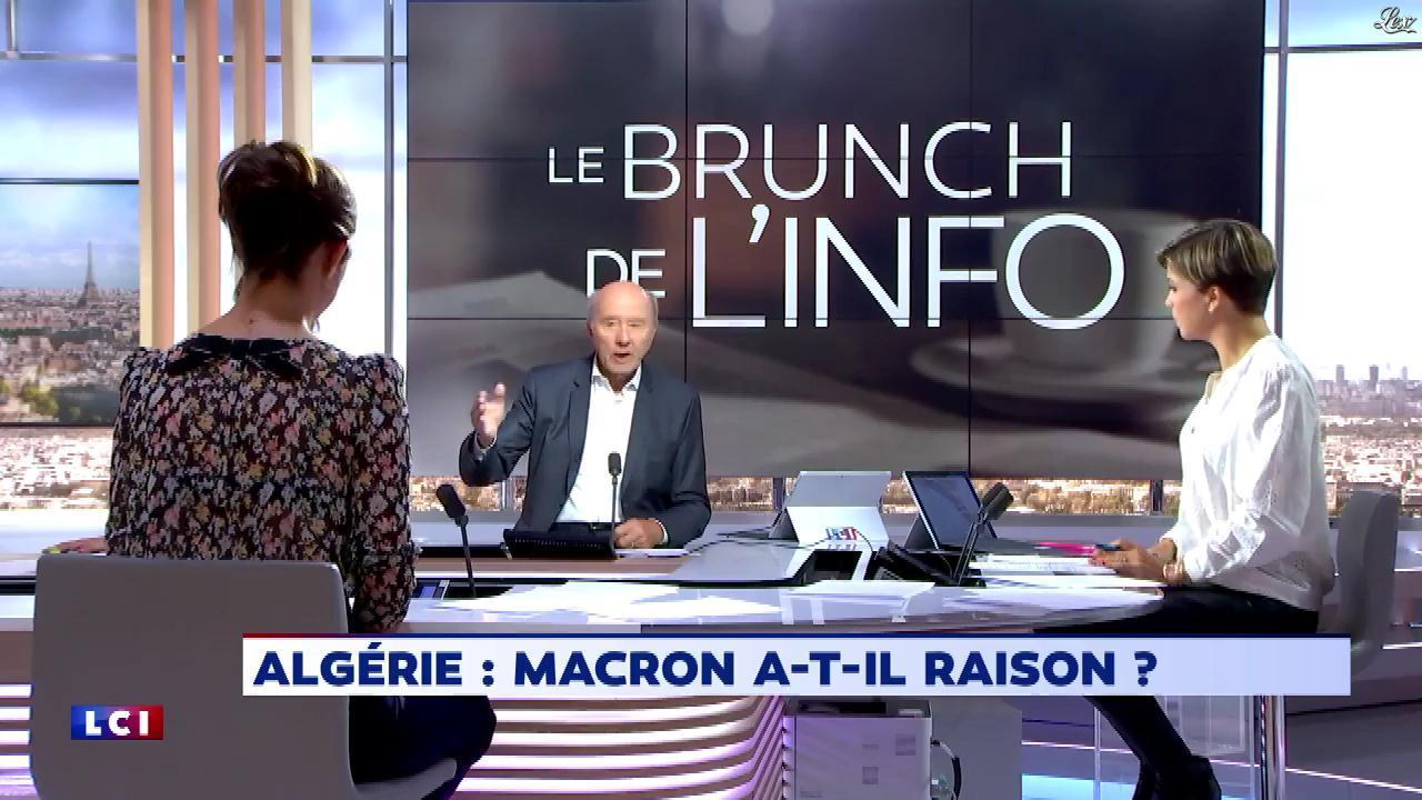Bénédicte Le Chatelier dans le Brunch de l'Info. Diffusé à la télévision le 15/09/18.