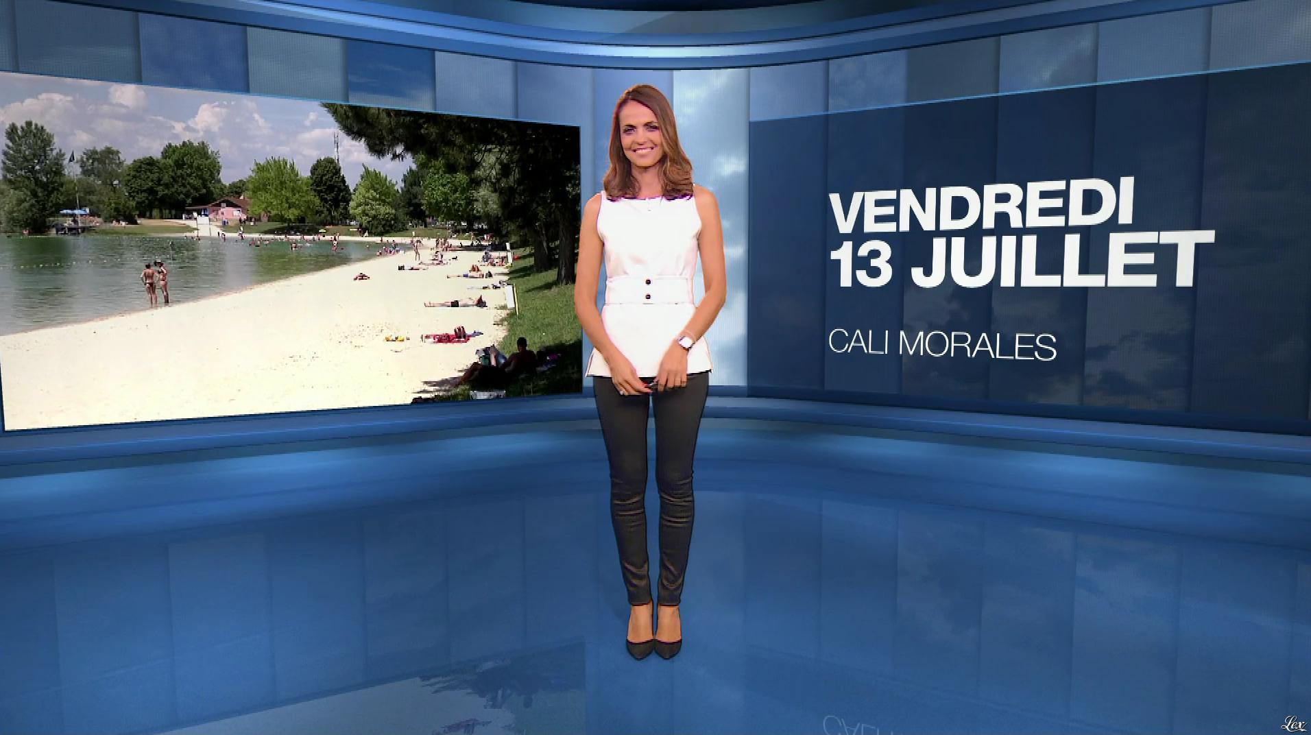 Cali Morales à la Météo du Soir. Diffusé à la télévision le 13/07/18.