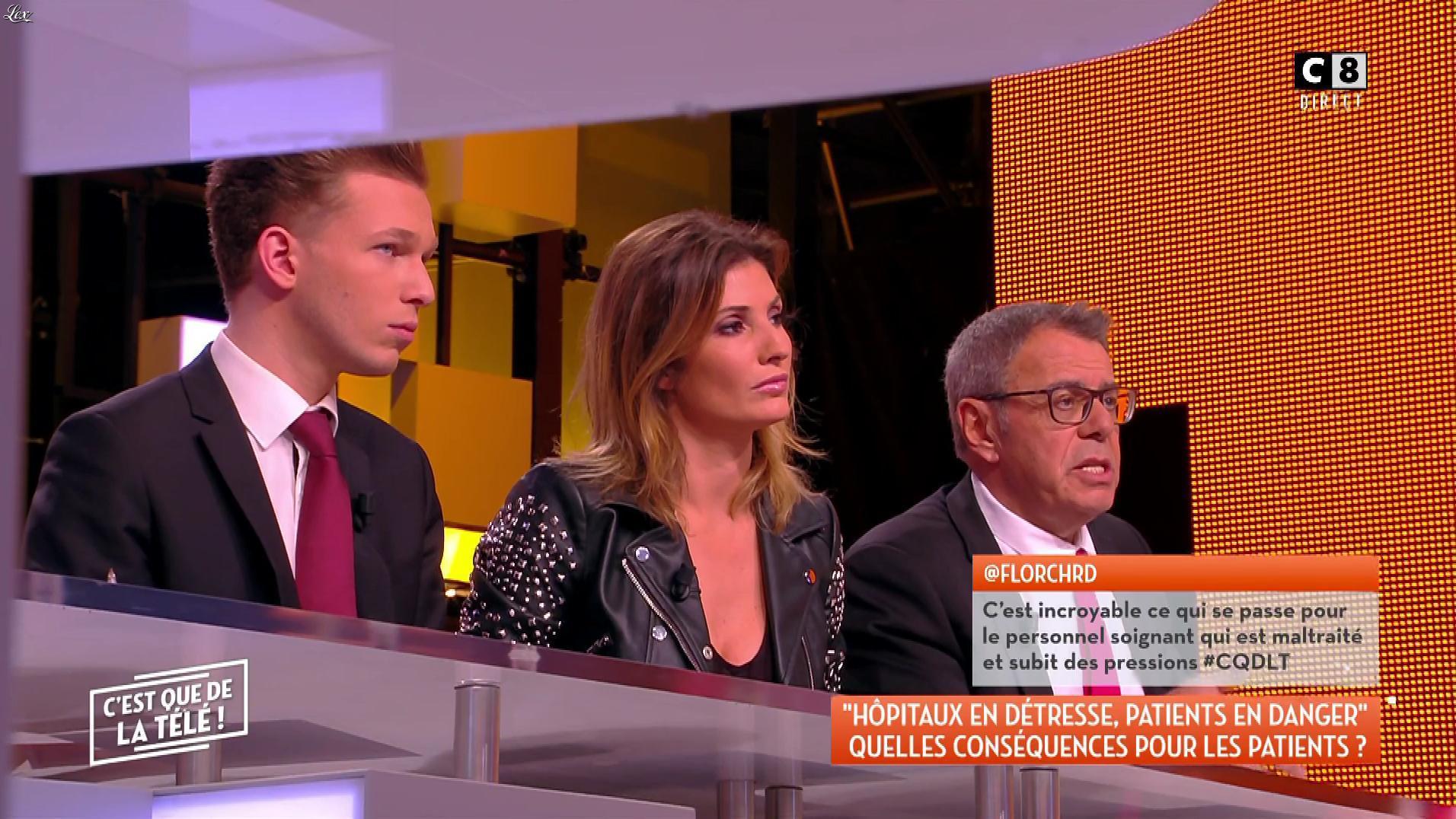 Caroline Ithurbide dans c'est Que de la Télé. Diffusé à la télévision le 09/04/18.