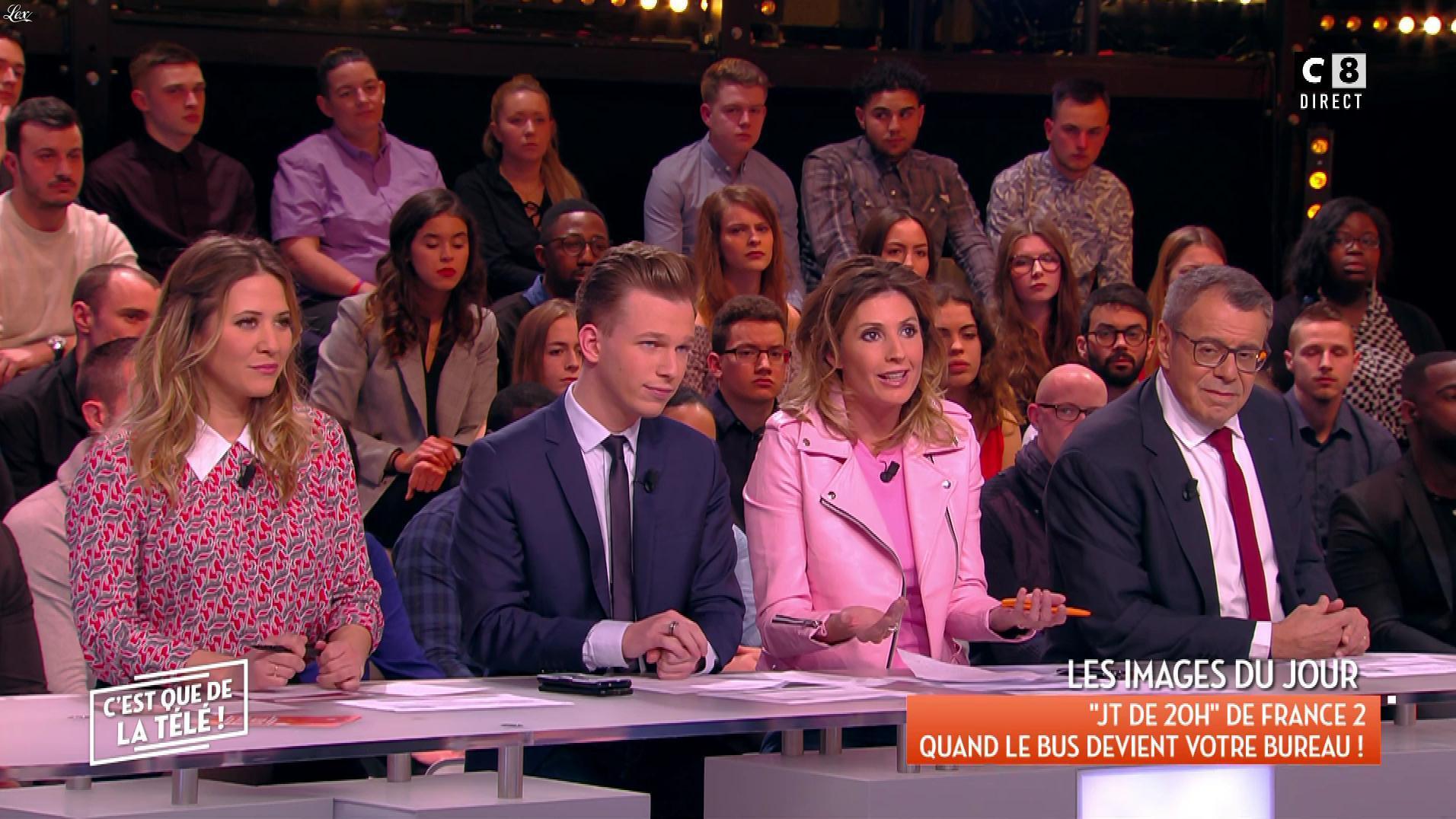 Caroline Ithurbide dans c'est Que de la Télé. Diffusé à la télévision le 19/03/18.