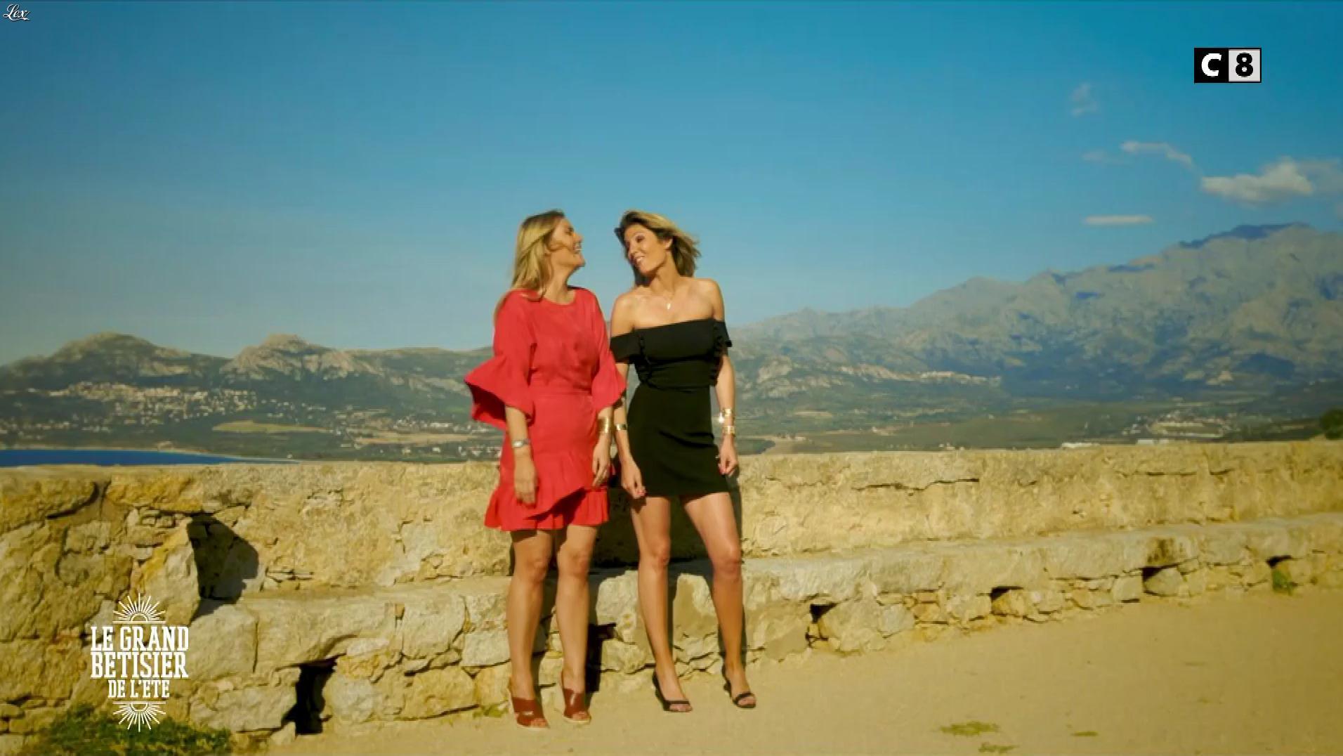 Caroline Ithurbide et Justine Fraioli dans le Grand Bêtisier de l'Ete. Diffusé à la télévision le 13/06/17.