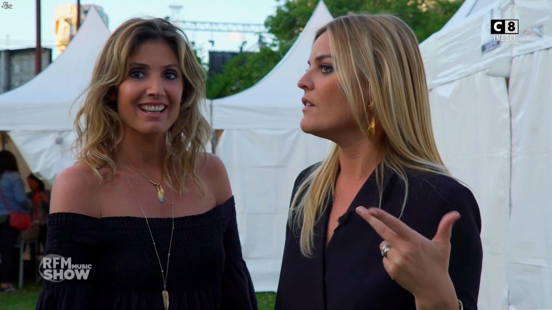 Caroline Ithurbide et Justine Fraioli dans RFM Music Show. Diffusé à la télévision le 14/06/17.