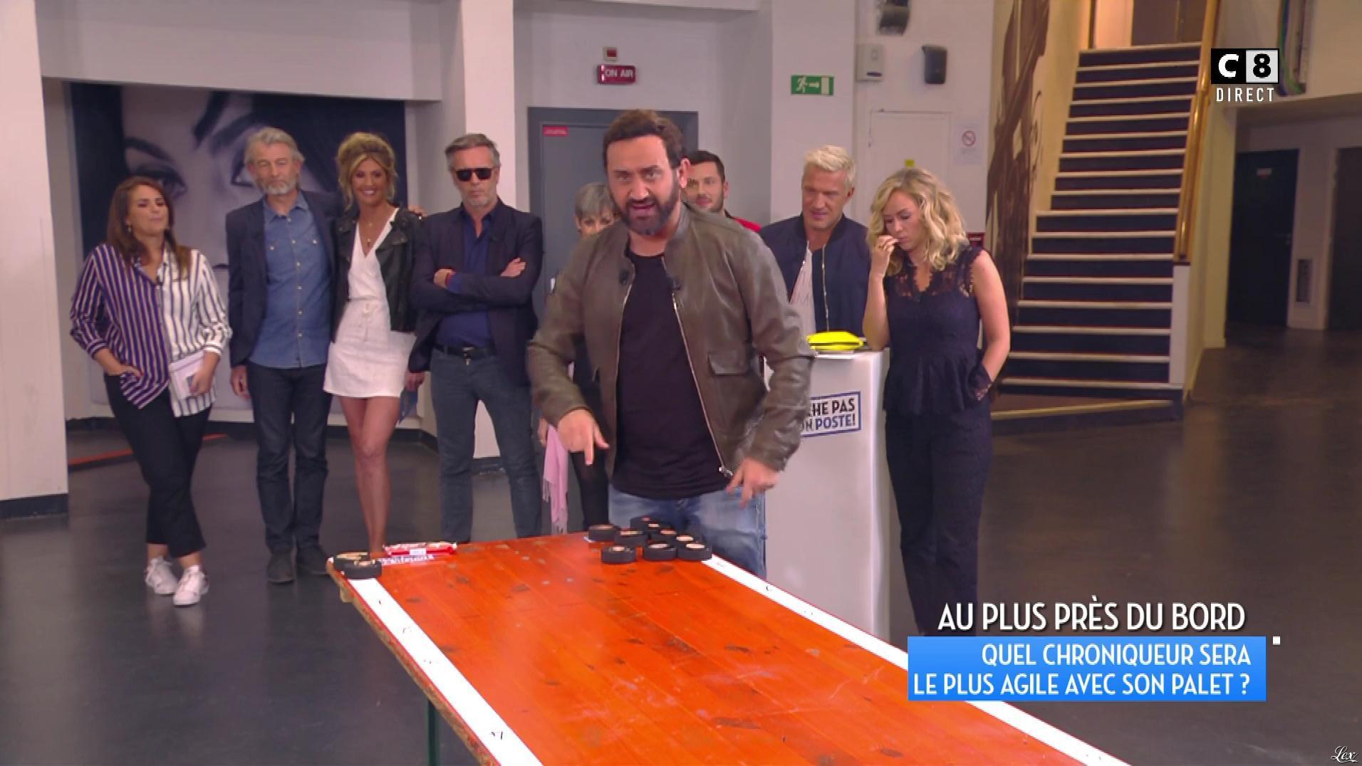 Caroline Ithurbide dans Touche pas à mon Poste. Diffusé à la télévision le 13/04/17.