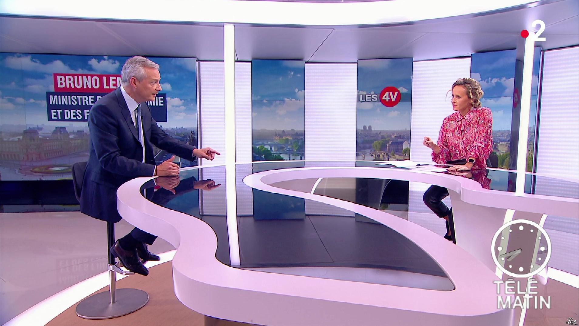 Caroline Roux dans les 4 Vérités. Diffusé à la télévision le 06/09/18.