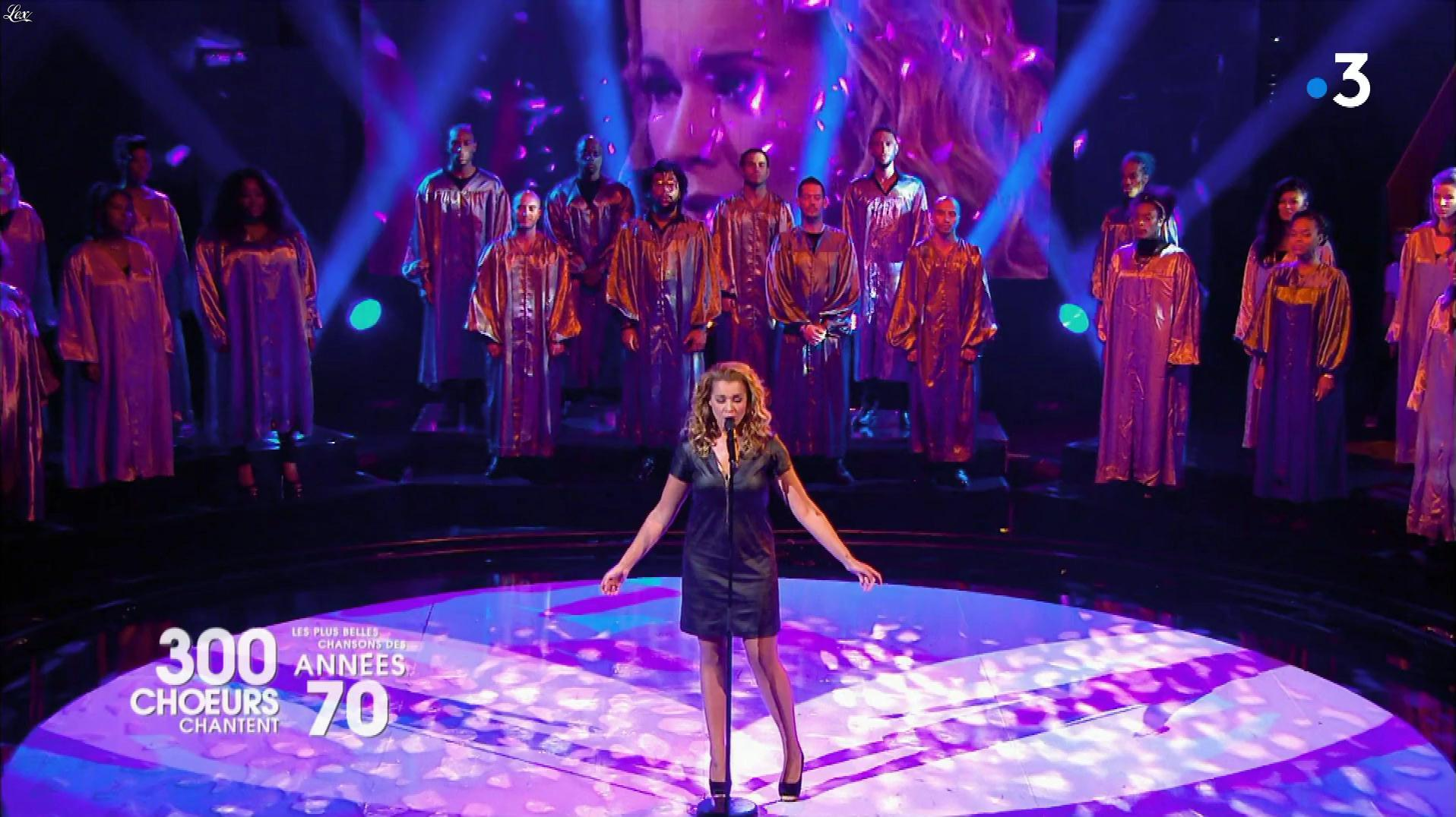 Chimène Badi dans 300 Chœurs Chantent. Diffusé à la télévision le 20/04/18.