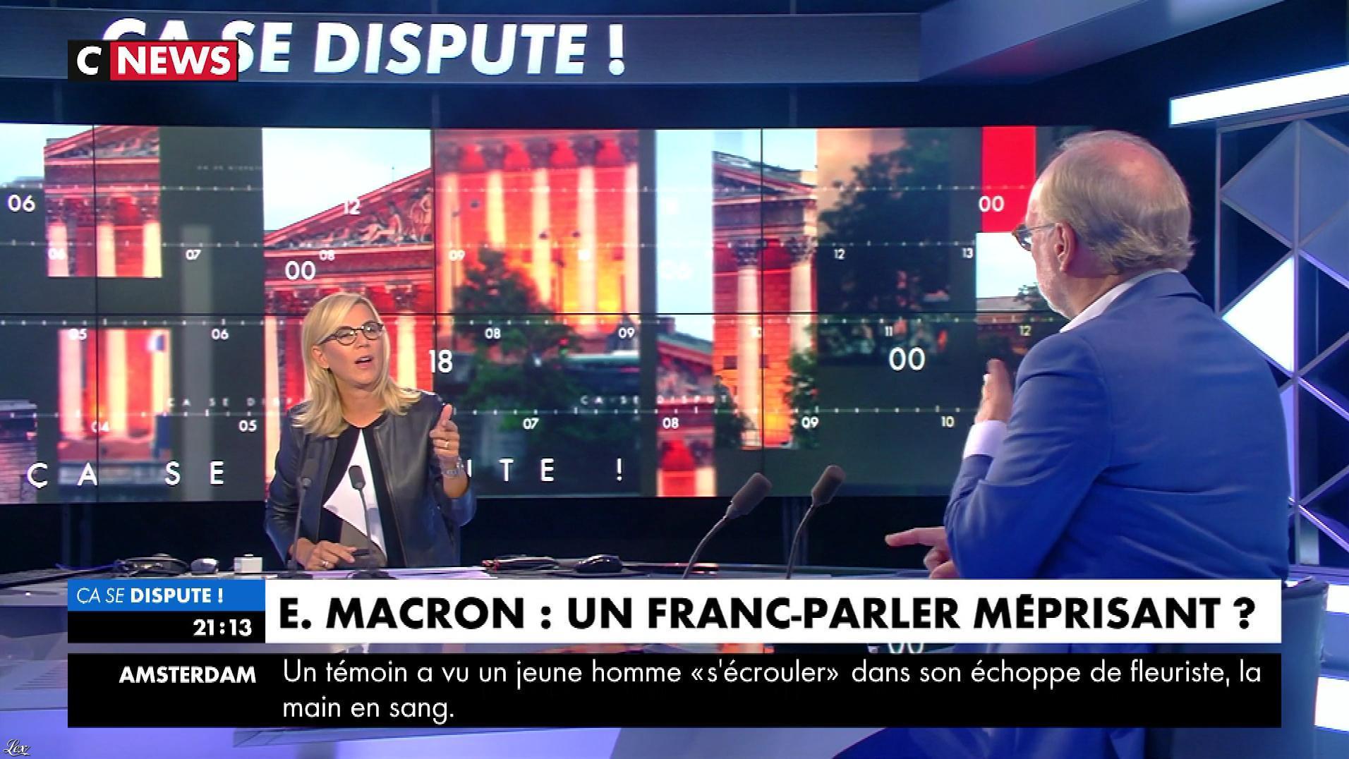 Laurence Ferrari dans Ça Se Dispute. Diffusé à la télévision le 31/08/18.