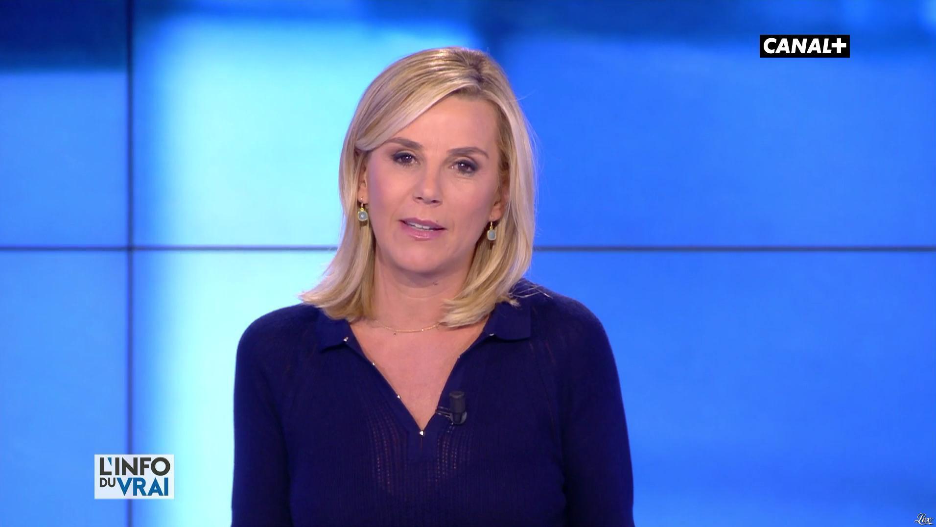 Laurence Ferrari dans l'Info du Vrai. Diffusé à la télévision le 04/05/18.