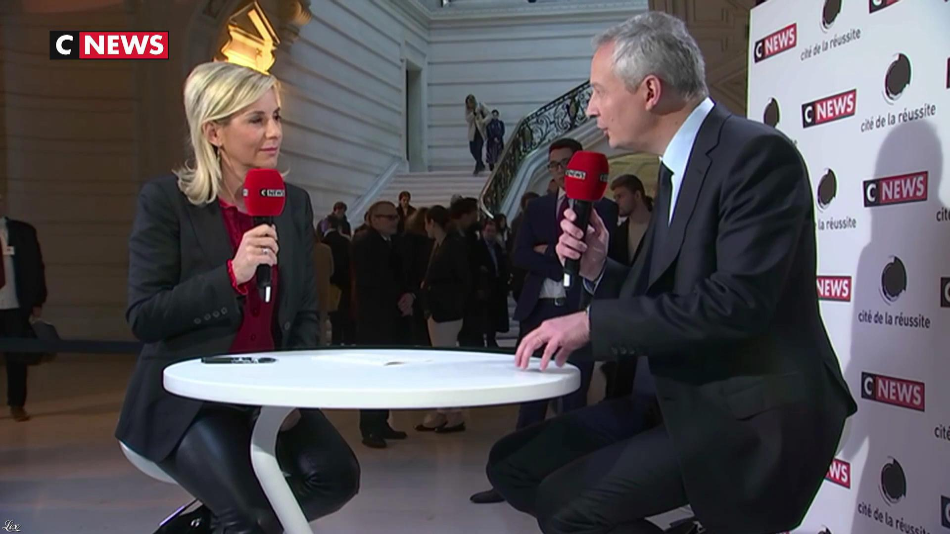 Laurence Ferrari dans la Cite de la Reussite. Diffusé à la télévision le 19/11/17.