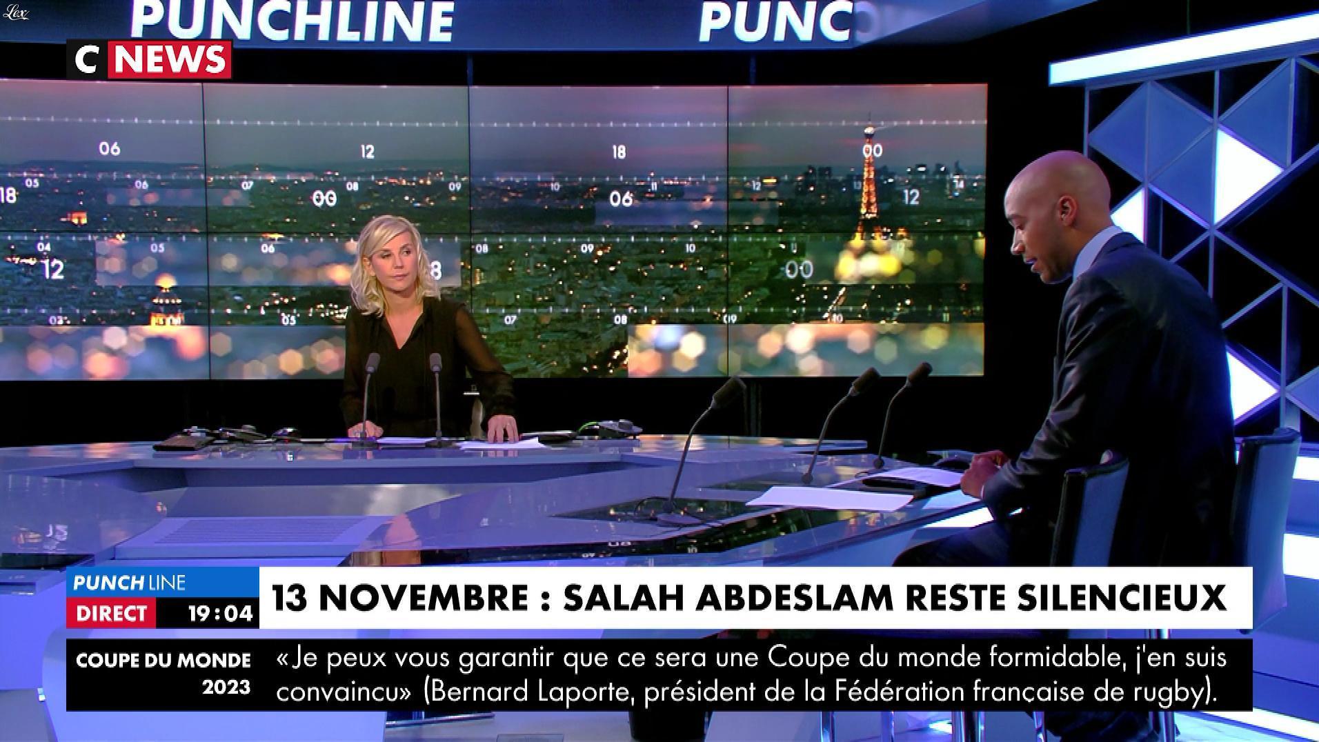 Laurence Ferrari dans Punchline. Diffusé à la télévision le 15/11/17.